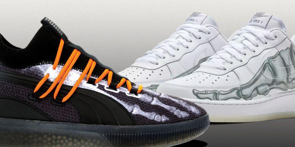 Nike and Puma Halloween Sneakers | Air Force 1 Skeleton ...