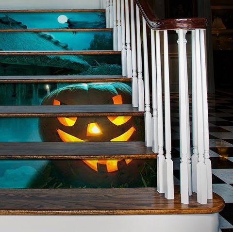 halloween stair decals
