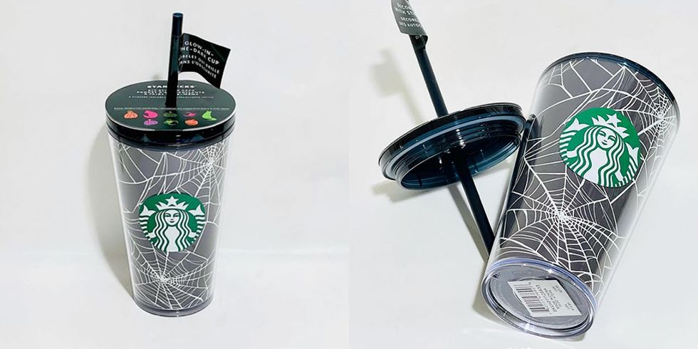 Starbucks' 2021 Halloween Coffee Cups Glow In the Dark and Are Totally Customizable