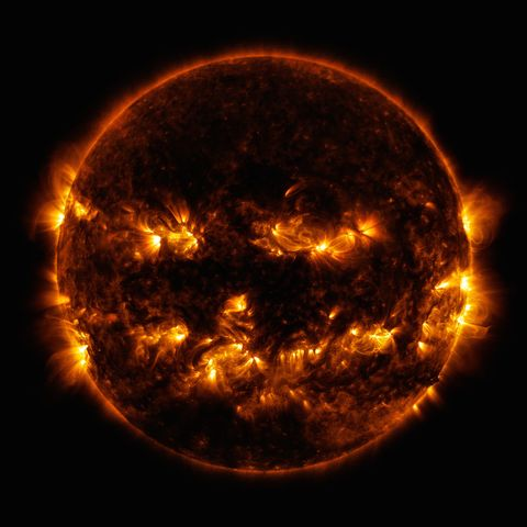 NASA Halloween Jack-o-Lantern Sun