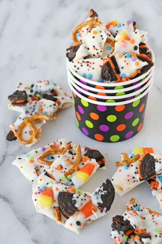 halloween treats candy bark