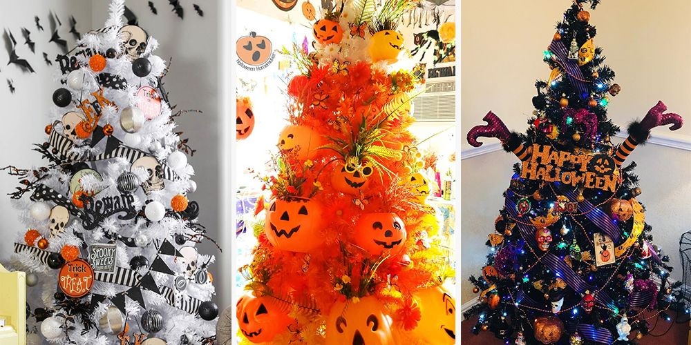 Halloween Christmas Tree.Halloween Trees Are The Spooky Decoration You Need This Year