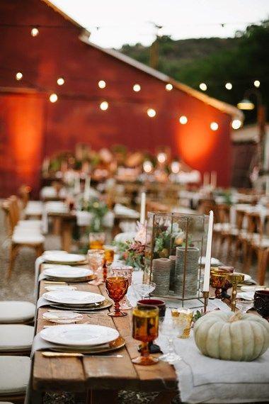 Halloween wedding - elegant table