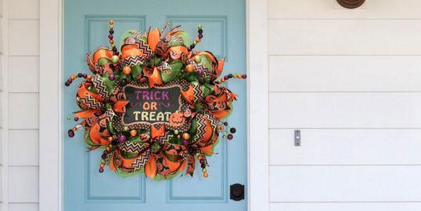 30 Diy Halloween Wreaths Best Halloween Door Decoration