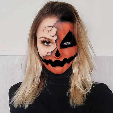 21 half face halloween makeup ideas and tutorials for 2019