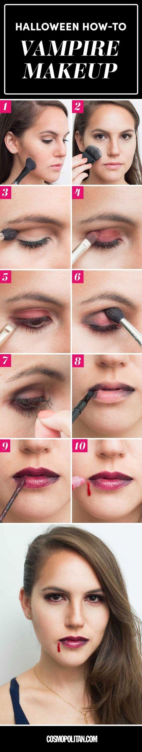 Easy vampire makeup tutorial for halloween how to do vampire makeup kathleen kamphausen baditri Choice Image