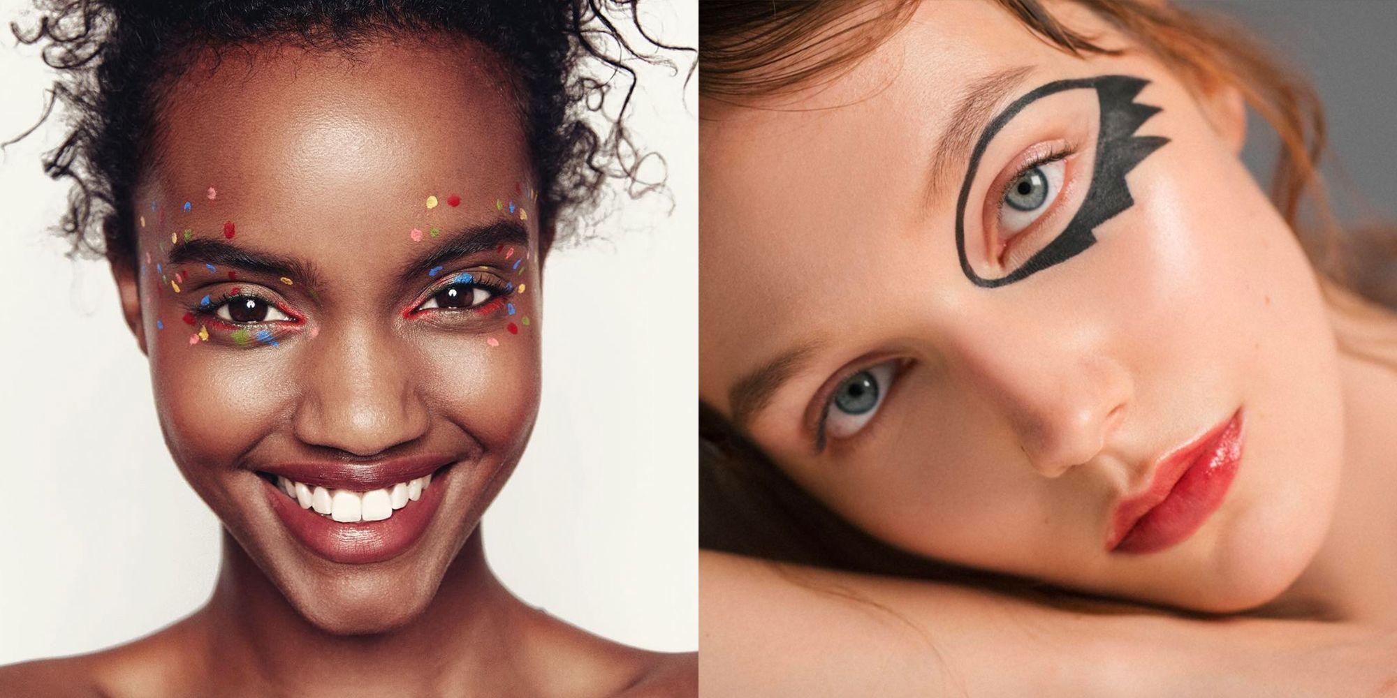 Sexy halloween eye makeup instructions
