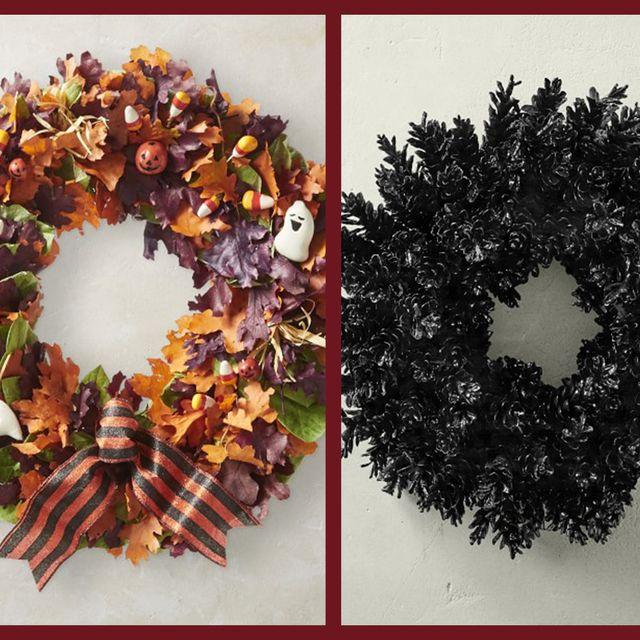 Leaf, Amber, Orange, Wreath, Costume accessory, Hair accessory, Natural material, Creative arts,