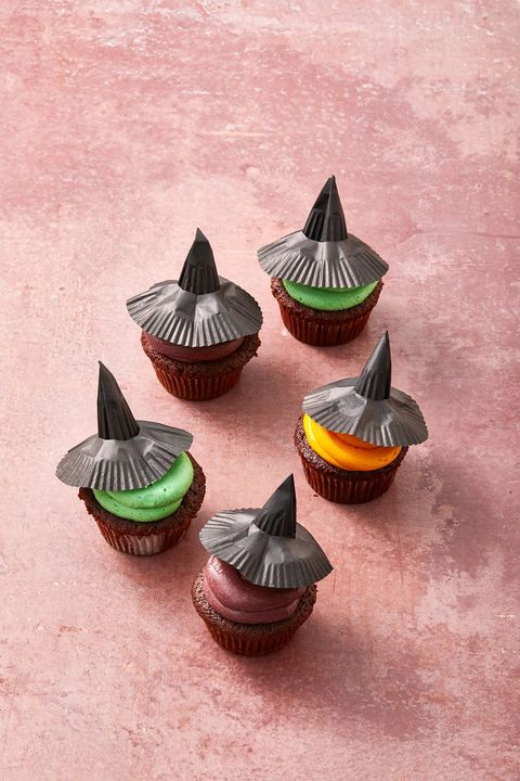 halloween baby shower witch cupcakes