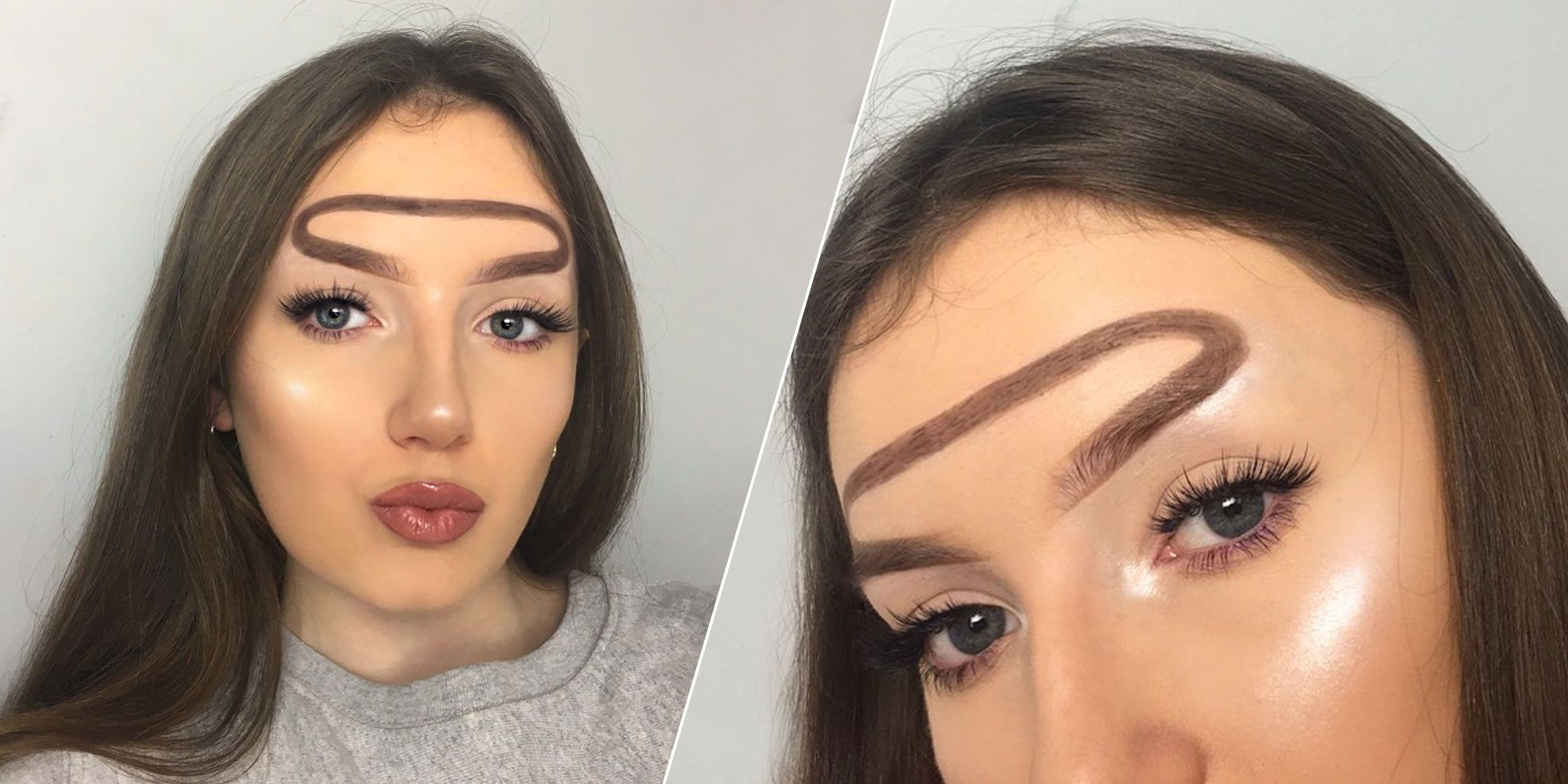 These Heavenly Halo Brows Are Strangely Beautiful Halo Eyebrow Trend
