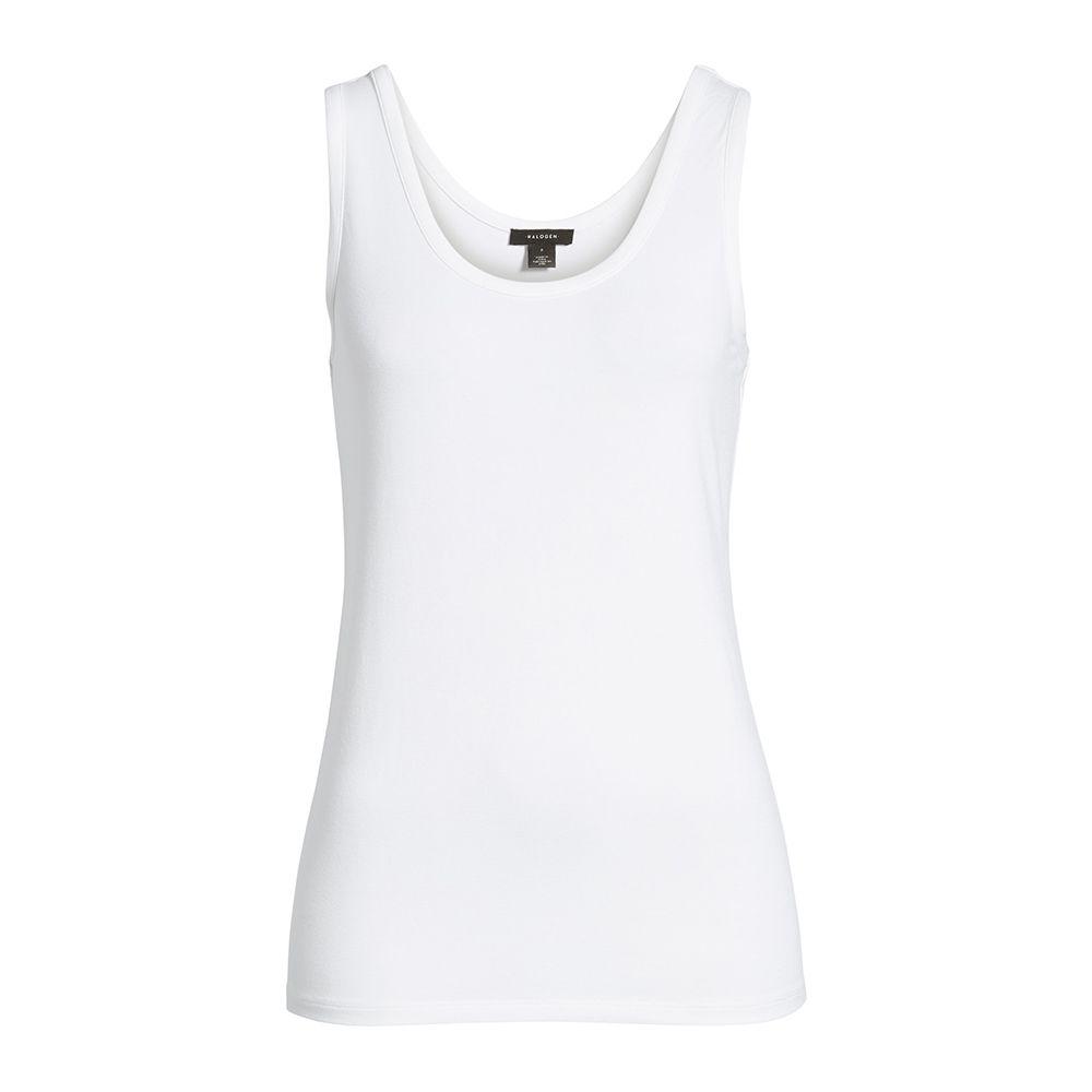 halogen white tank top