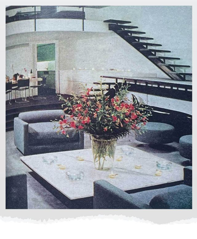 fashion designer halstons manhattan townhouse designed by paul rudolph as seen in house beautiful october 1977