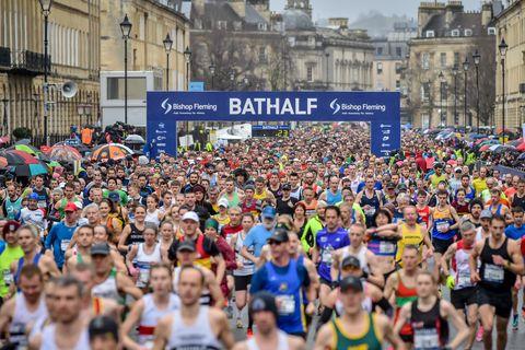 Halve marathon Bath van start coronavirus hardlopers