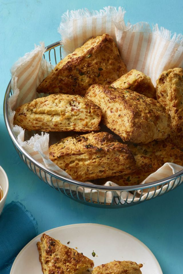 kid-friendly breakfast recipes - ham and cheese scones