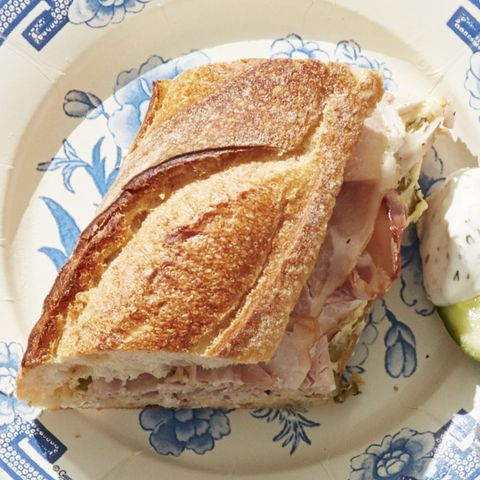 4th of july recipes - Ham and Pickle Baguette Recipe