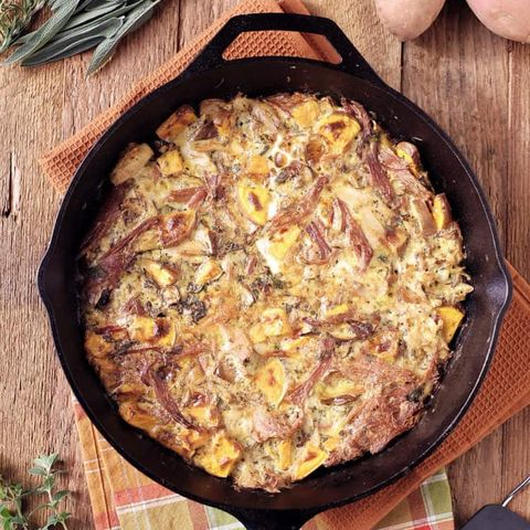 ham and turkey frittata