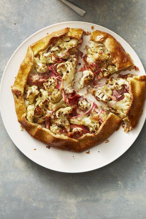 ham cheese and cauliflower galette