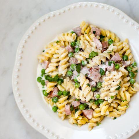 ham and pea pasta