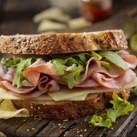 Ham, Swiss and Arugula Sandwich
