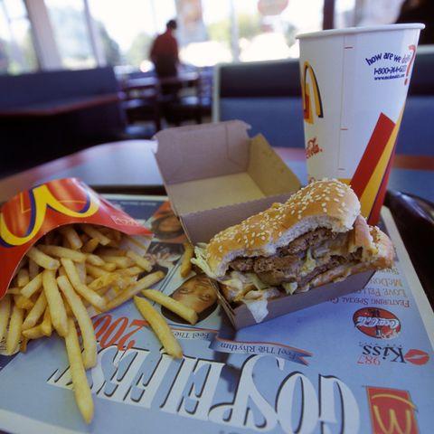 Calorías de una hamburguesa McDonald