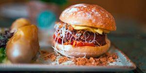 hamburguesa vegana vegetariana