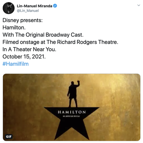 Hamilton Movie Gets Release Date And Update From Lin Manuel Miranda
