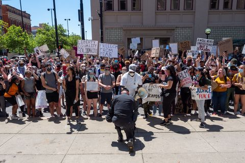 george floyd protest and rally at hamilton county courthouse in cincinnati