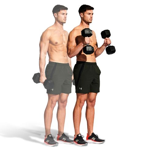 shoulder, weights, exercise equipment, standing, arm, dumbbell, muscle, joint, physical fitness, chest,