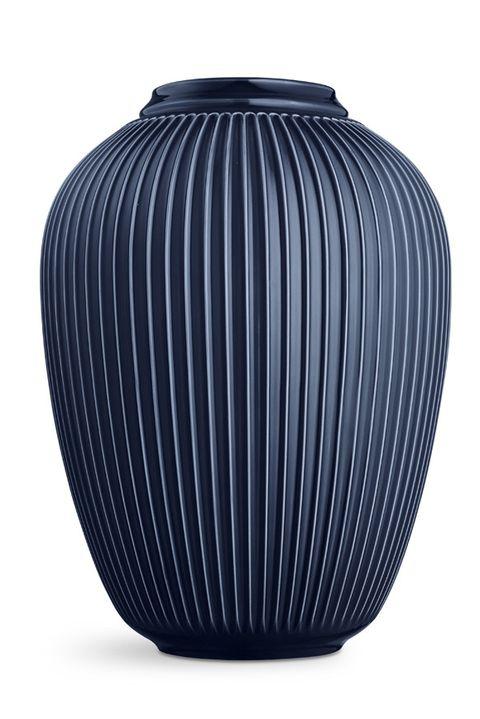 Hammershoi Ridged Vase Indigo