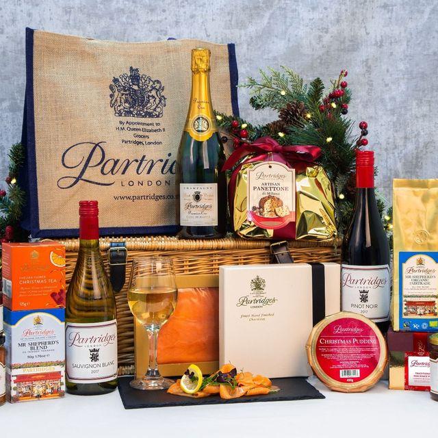 Basket, Hamper, Product, Present, Gift basket, Home accessories, Food storage, Food, Liqueur, Still life photography,