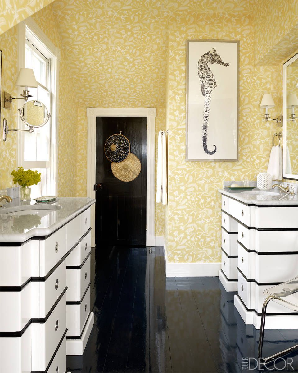 Yellow Bathroom Inspiration & 12 Cheerful Yellow Bathroom Decor Ideas - Yellow Bathroom Accessories