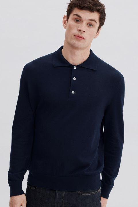 Clothing, Collar, Sleeve, Long-sleeved t-shirt, Neck, Polo shirt, Button, T-shirt, Outerwear, Cool,