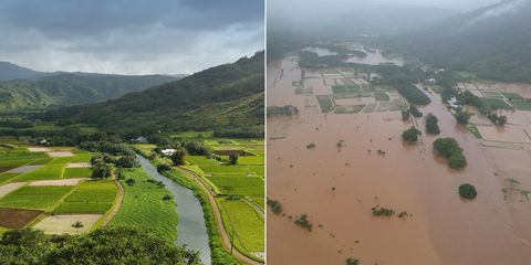 Record Breaking Rains Cut Off Hanalei Bay From The Rest Of Kauai