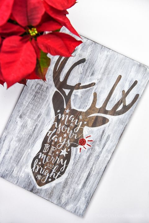 14 Diy Christmas Signs Wooden And Lighted Merry