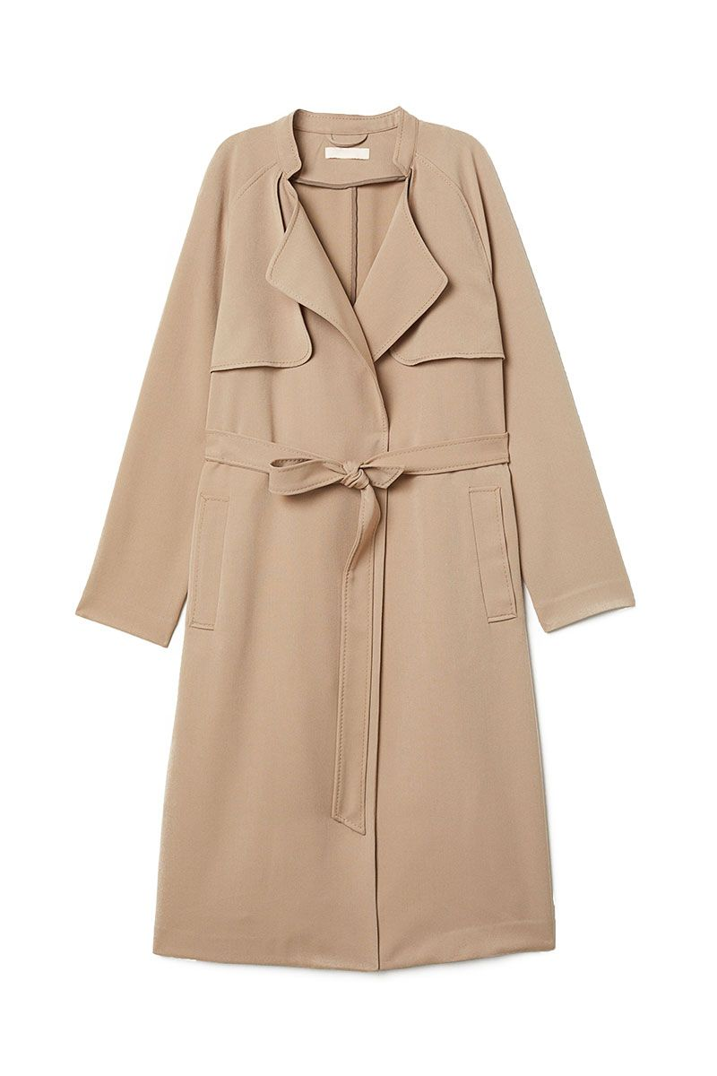 H&M camel coloured lightweight trench coat