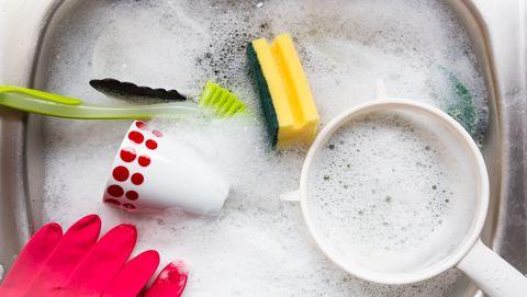 afwassen met schuim beter