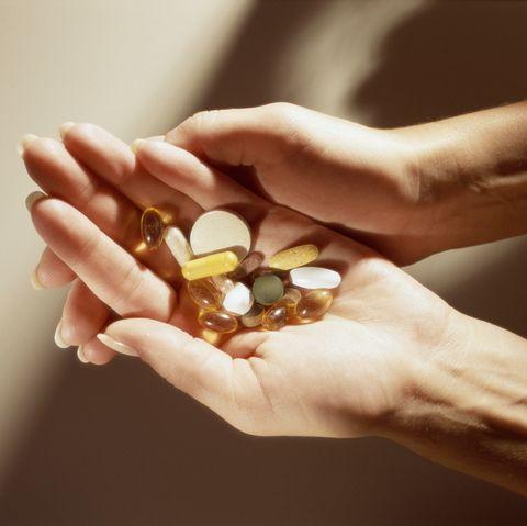 handful of vitamins