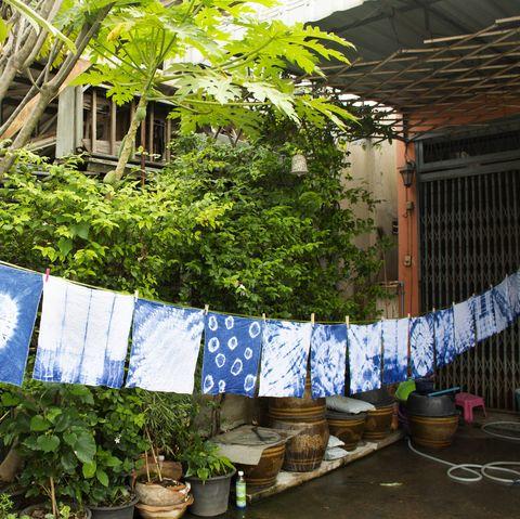 handkerchief tie batik dyeing tie batik indigo color