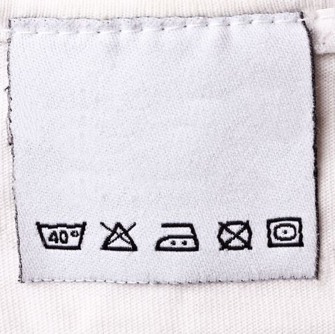 Handle and care instructions for a white shirt
