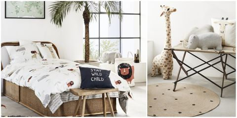 H M Home Launches Playful Safari Themed Children S Bedroom
