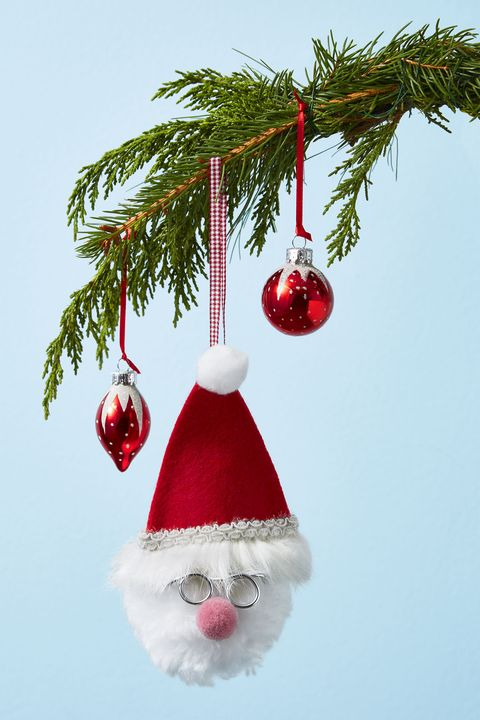 Handmade Christmas Ornaments - Fluffy Santa