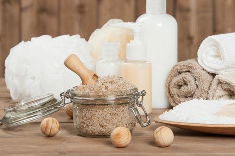 Handmade Scrub With Coffee, Lemon And Argan Oil. Dead Sea Bath S