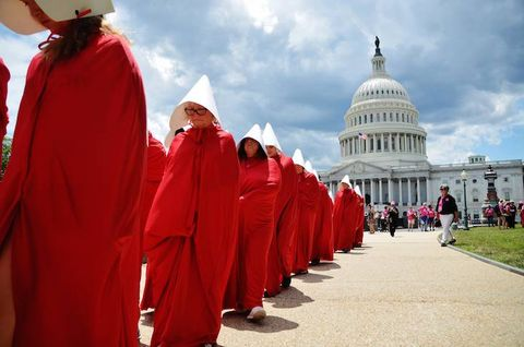 handmaids tale, riot, planned parenthood, washington, trump
