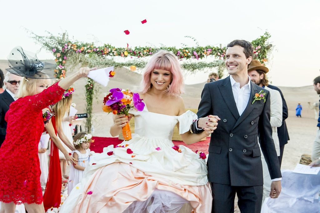 Lydia Hearst and Chris Hardwicks Wedding in Pasadena Inside Lydia