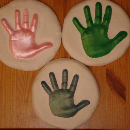 plaster of paris handprint craft