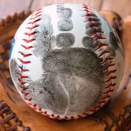 father's day crafts preschool sunny day family handprint baseball keepsake craft