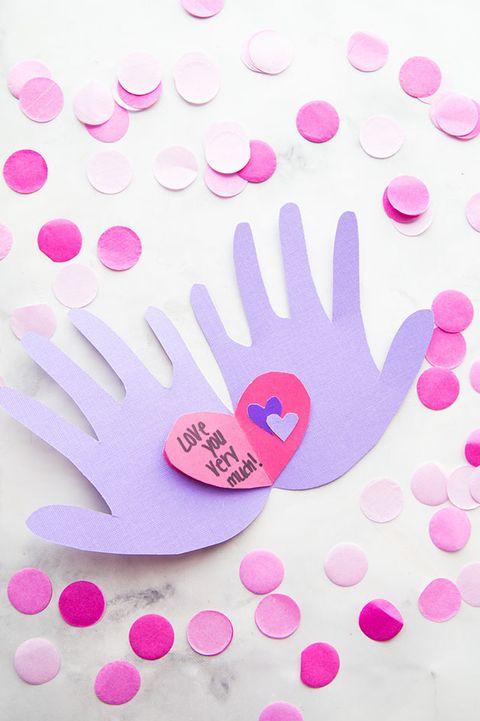 valentine's day crafts for kids handprint heart card