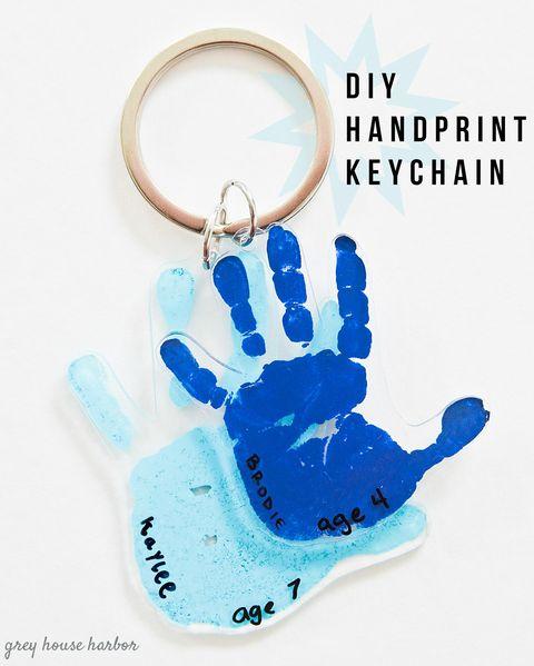 diy handprint keychain mother's day crafts