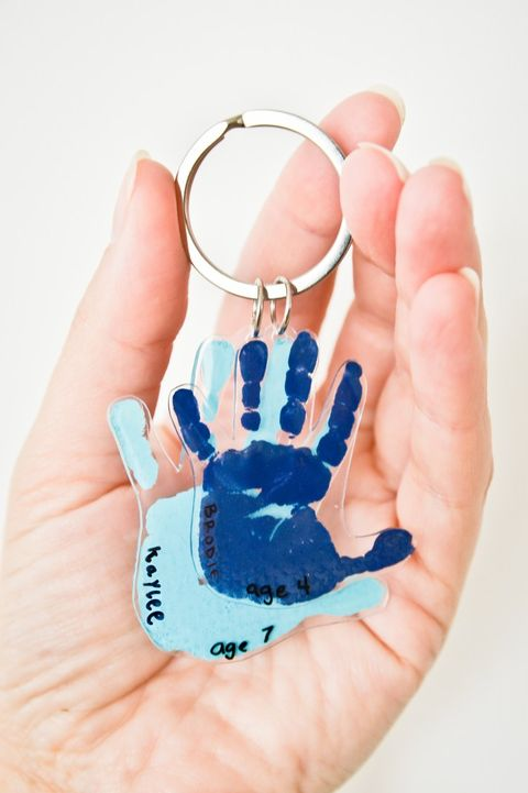 Father's Day Crafts Preschool - Project Nursery Little Handprints Keychain