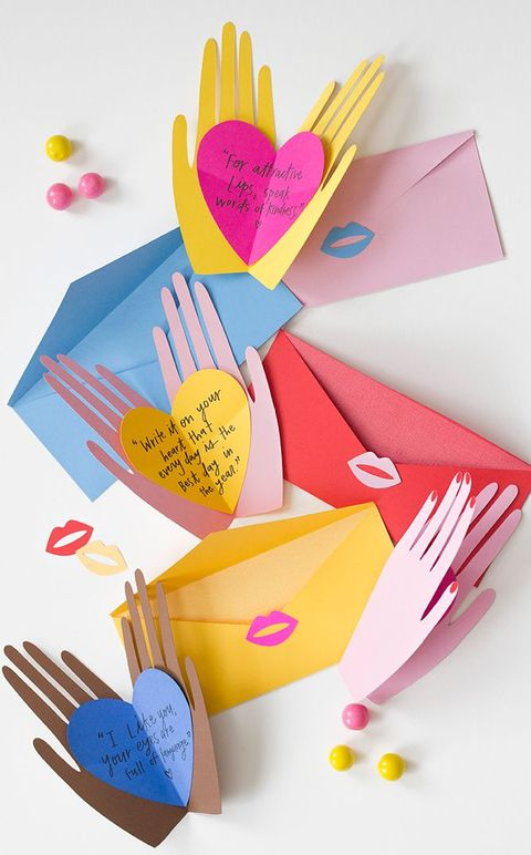 Hands Holding Hearts - DIY Mother's Day Cards